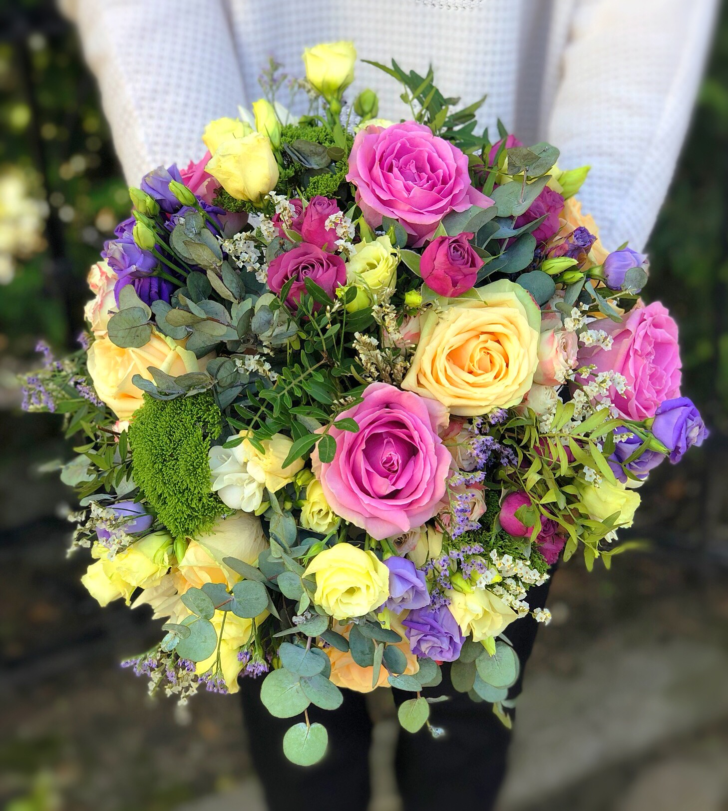 Mixed Delicate Flowers And Greenery Make This Bouquet Looking Organic