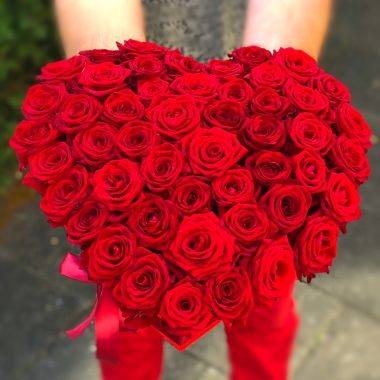 heart shape bouquet