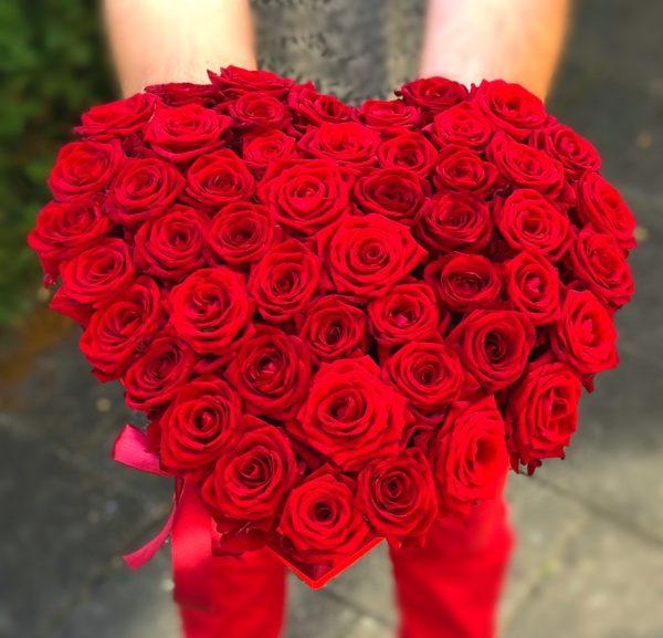 heart shape bouquet